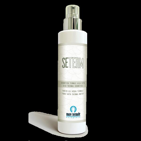 Tonico a base di acqua termale e proteine della seta