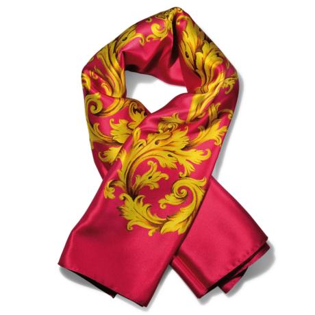 foulard classico in pura seta colore rosso