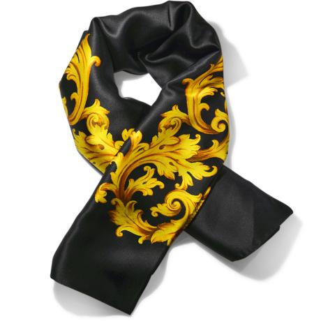 foulard classico in pura seta colore nero